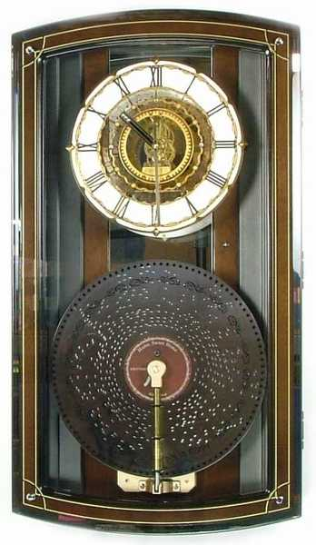 rhythm clocks baron music box disc player clock